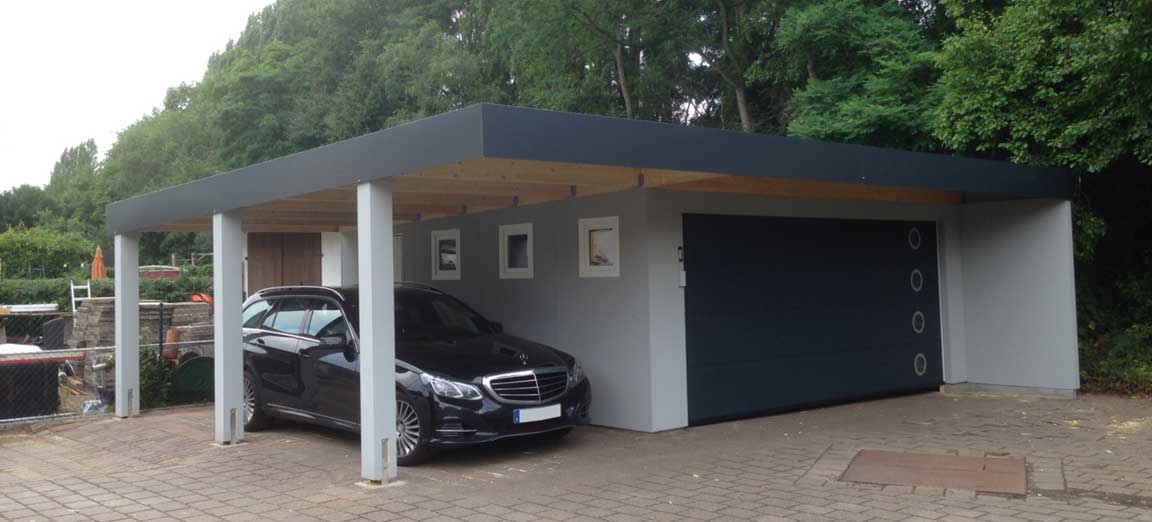 fertiggarage mit carport die garagen carport profis. Black Bedroom Furniture Sets. Home Design Ideas